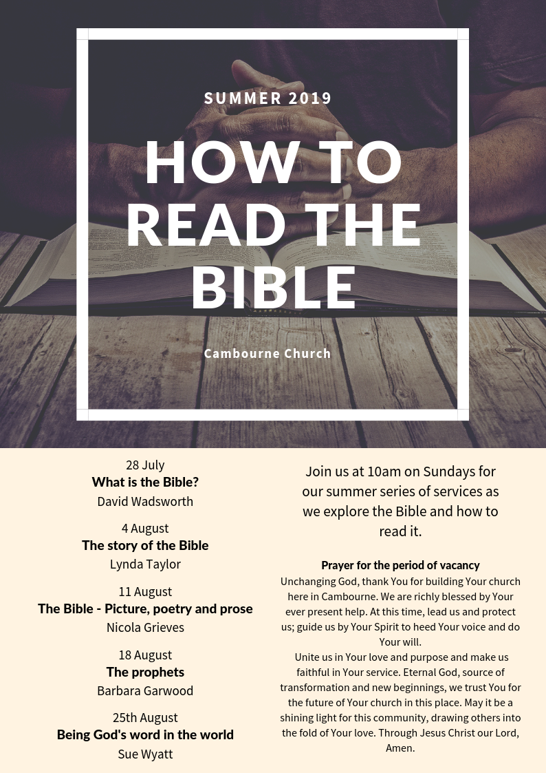 How to read the Bible - poster